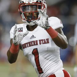 Southern Utah cornerback Jalen Russell (1) in the first half during an NCAA college football game against Arizona, Saturday, Sept. 15, 2018, in Tucson, Ariz.