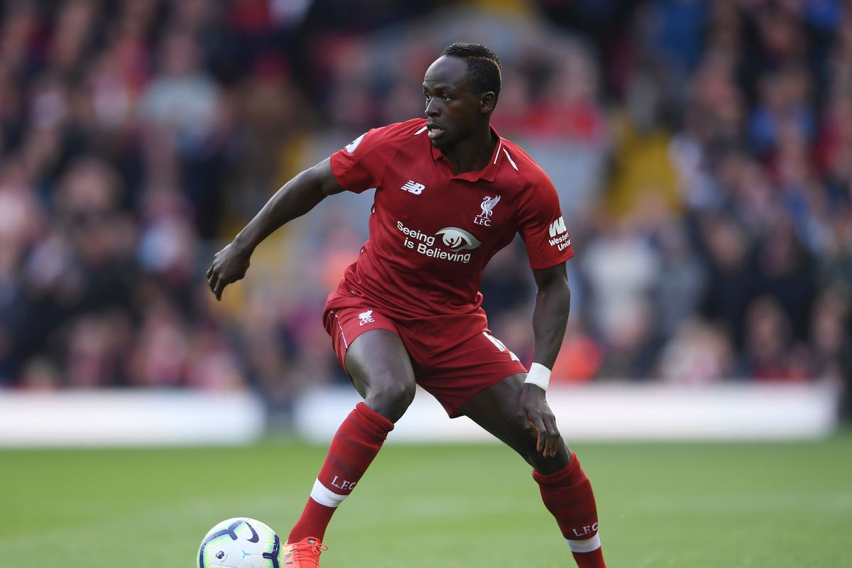 Sadio Mane runs with the ball - Liverpool FC - Premier League