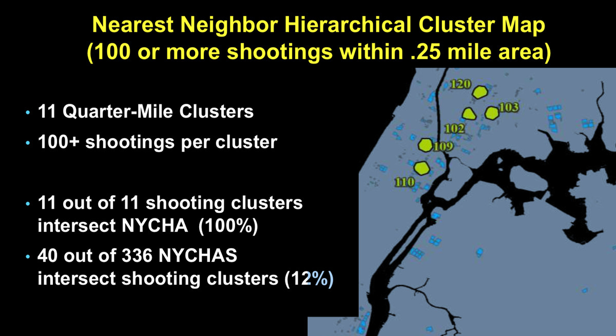 Christopher Herrmann, an assistant professor at CUNY's John Jay College, created a graphic denoting crime hot spots.