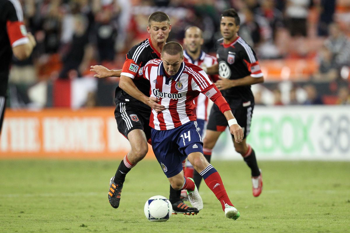 WASHINGTON, DC - SEPTEMBER 23: Townsend worked hard, but he and Chivas had nothing to show for it. (Photo by Ned Dishman/Getty Images)