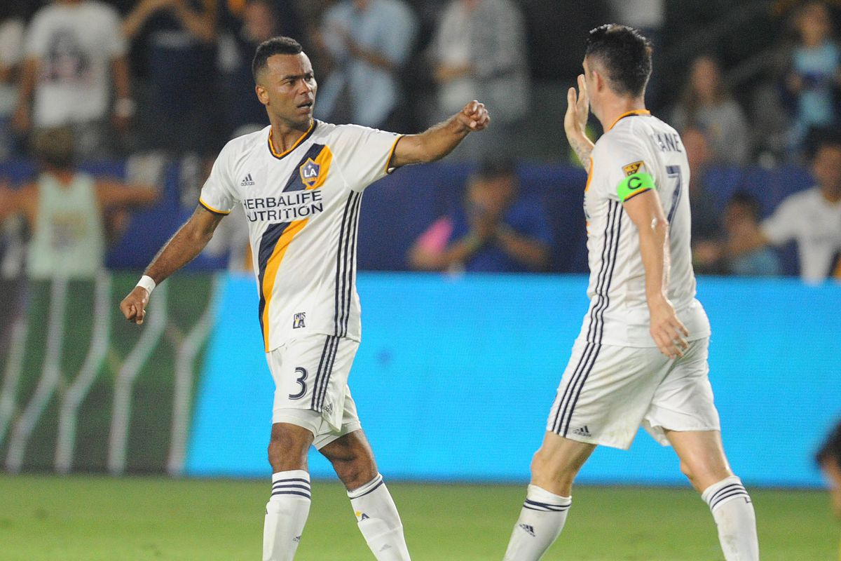 Ashley Cole scored his fist goal for the Galaxy in a 2-2 draw against the New York Red Bull