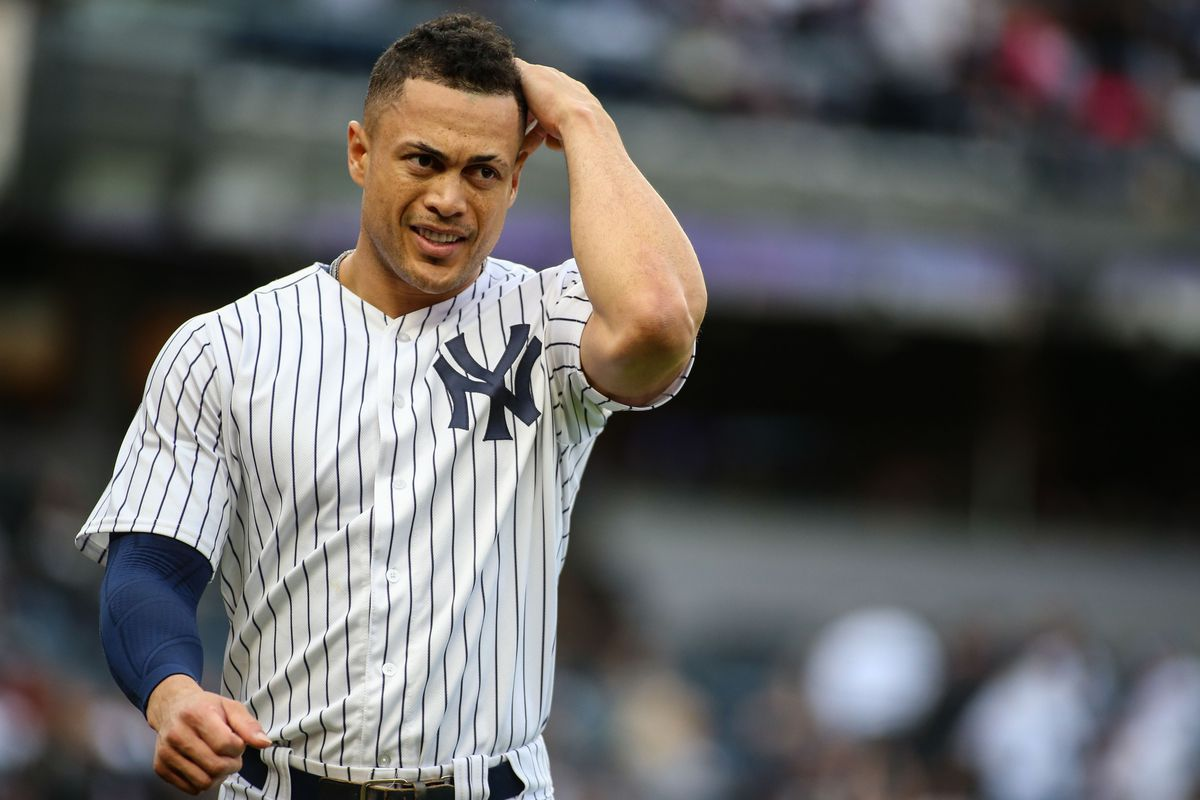 a9e1ce8ad A look at Giancarlo Stanton s opt-out question after one year with the  Yankees
