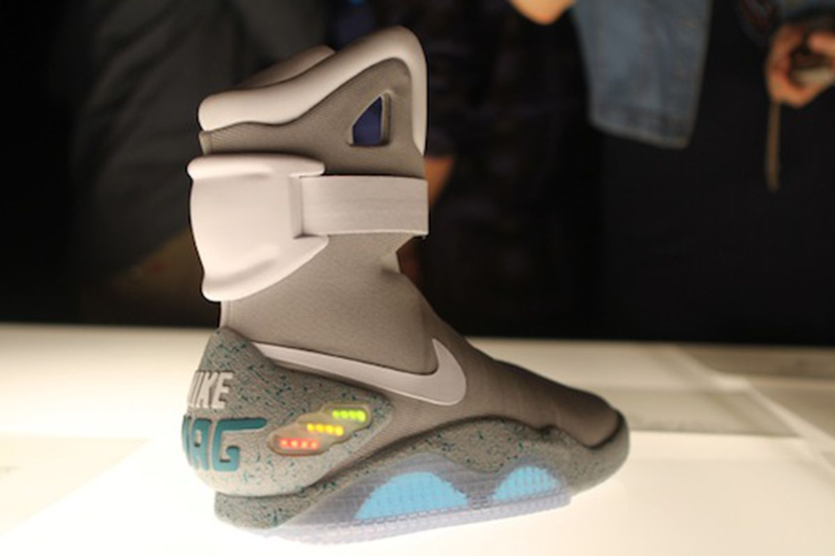 newest eb980 70e93 Nike designer says self-lacing Back to the Future shoes will arrive in  2015