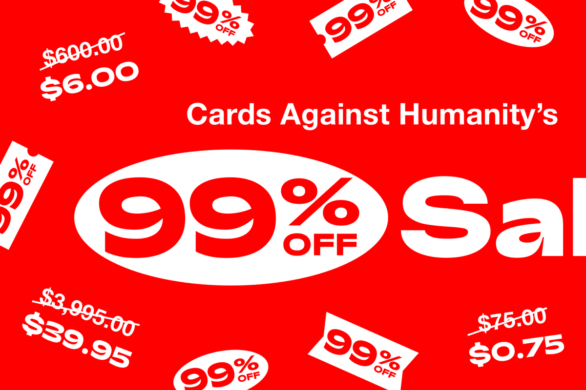Cards Against Humanity Holds 99 Percent Off Black Friday Sale On Cars And Diamonds