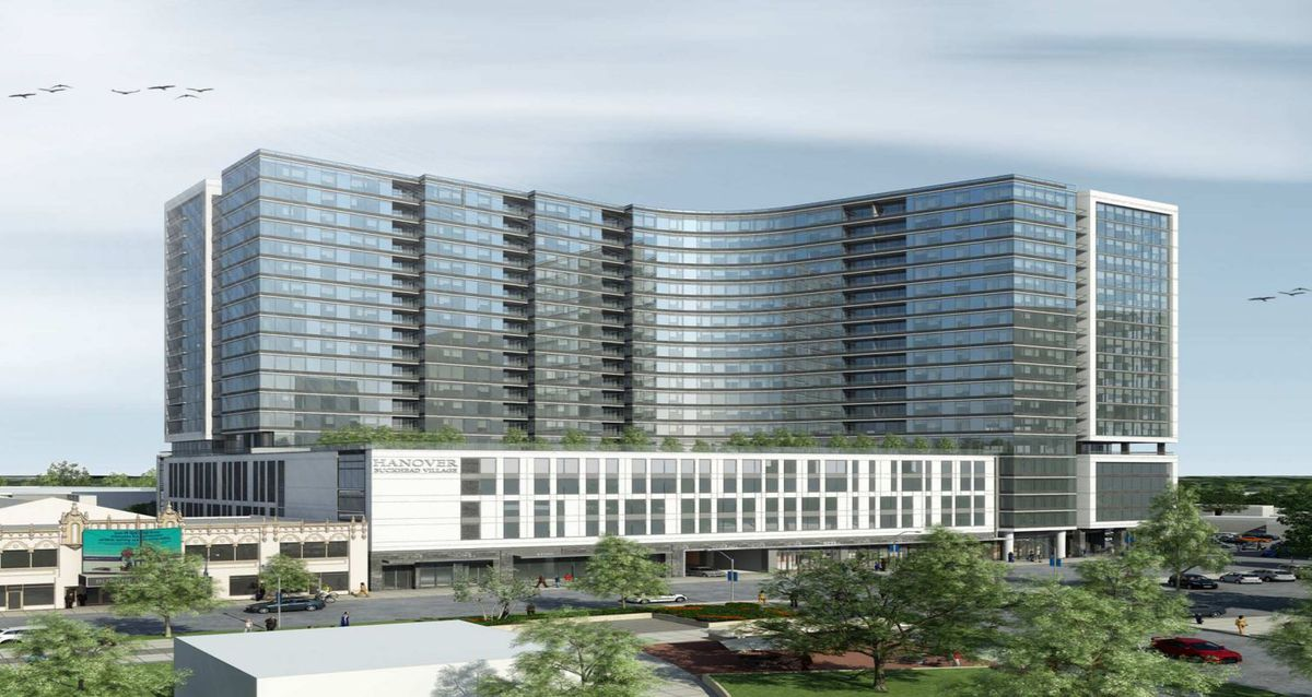 Next To Buckhead Theatre Hanover Buckhead Village Tower Is Topped