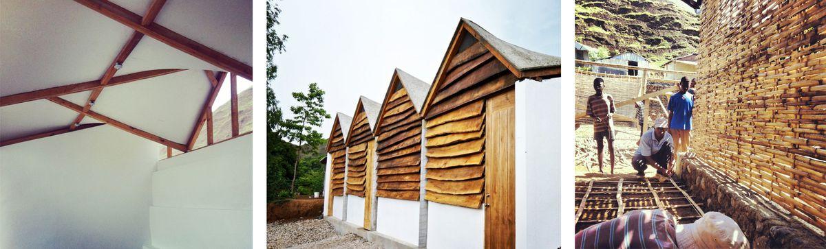 Staff group houses built in Haiti.