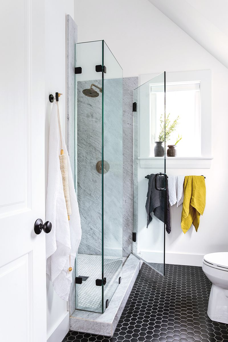 a Cape Cod-style remodel in Cumberland Foreside, ME, master bath, shower