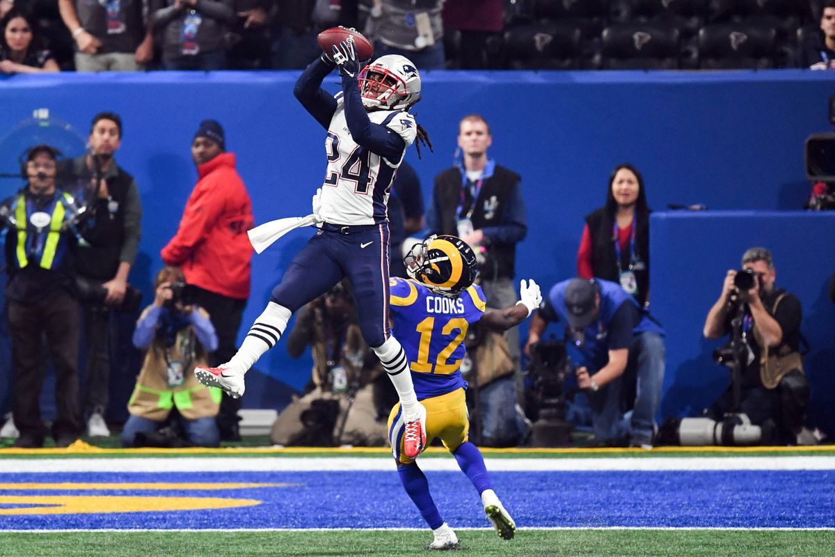 5866f6d0c Film room  Stephon Gilmore s interception was the whole Super Bowl in the  making