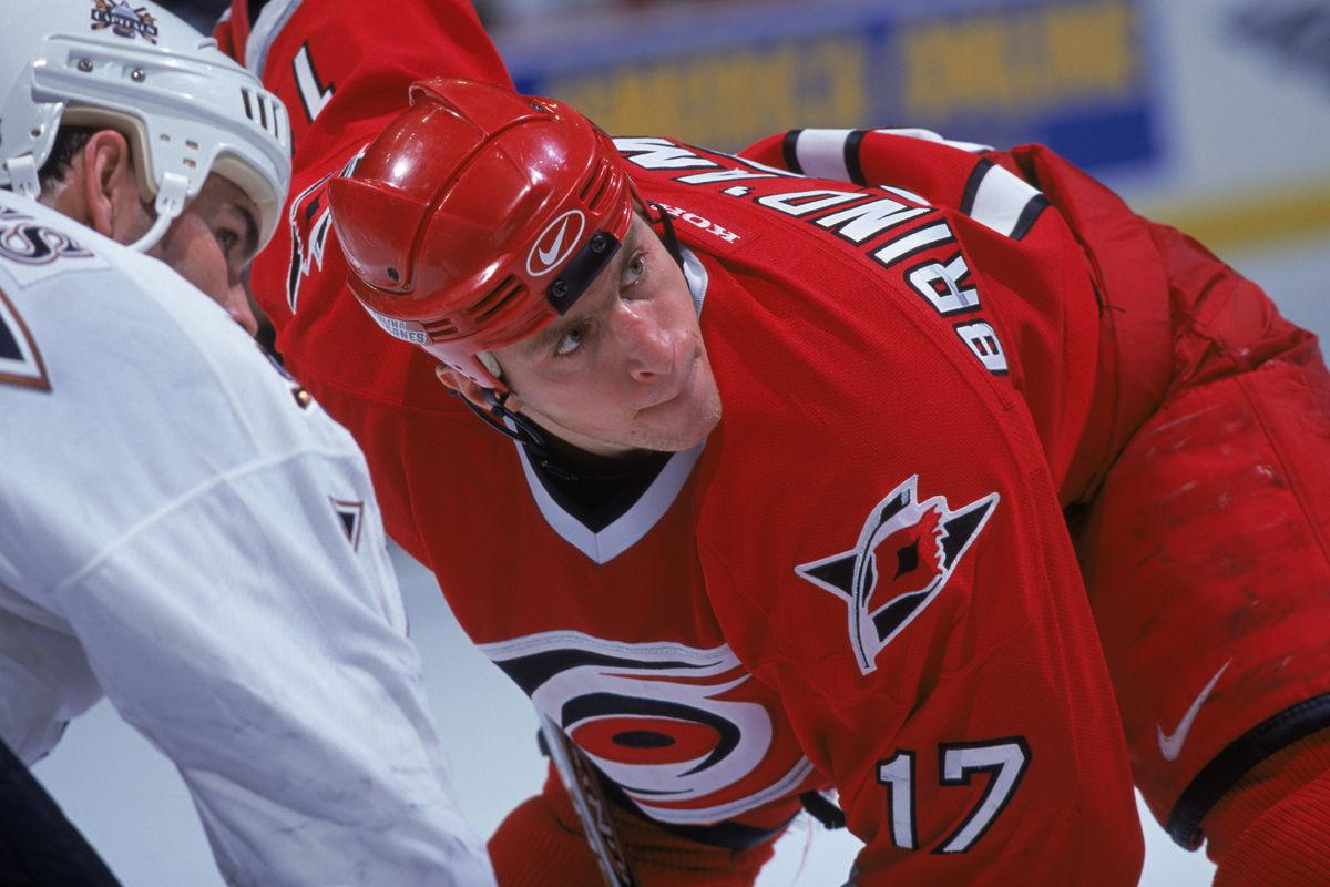 Rod Brind''Amour waits for the face off