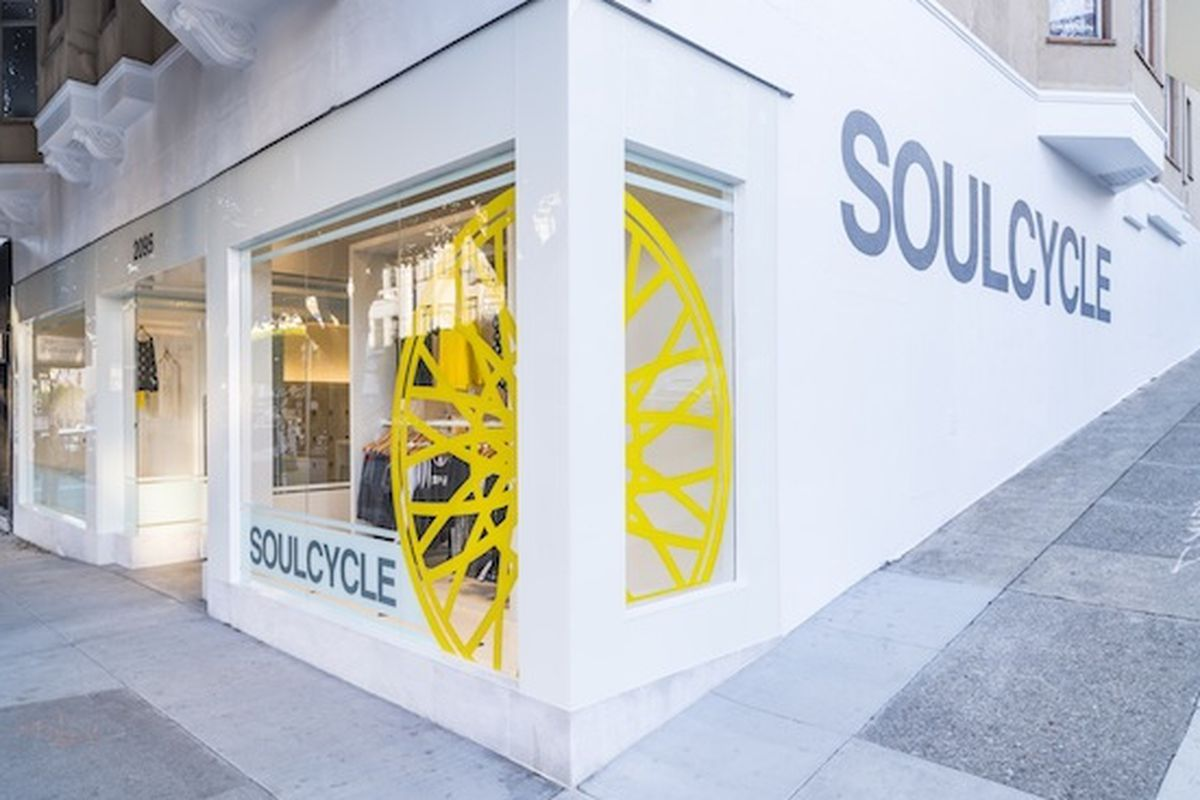 """Photo of the Union Street studio via <a href=""""https://www.soul-cycle.com/"""">SoulCycle</a>"""