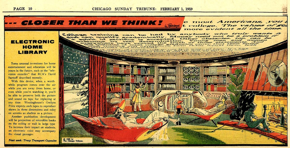 The library of the future, as imagined in 1959