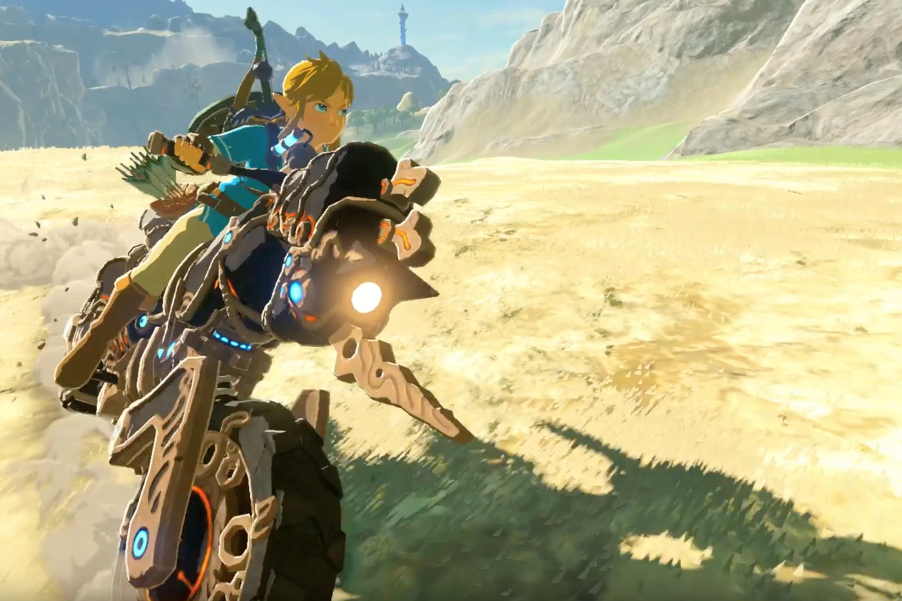 link can ride a motorcycle in breath of the wild s new dlc