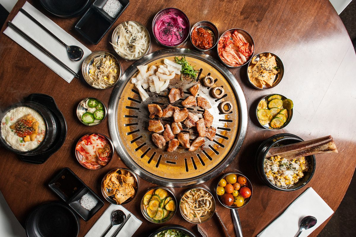 Hanjip is korean barbecue 39 s westside story eater la - How to build a korean bbq table ...