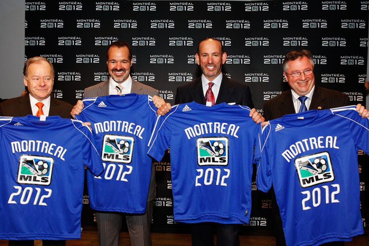As with Portland and Vancouver before it, MLS has inducted Montreal into its league for 2012.  (Photo by Richard Wolowicz/Getty Images for MLS)