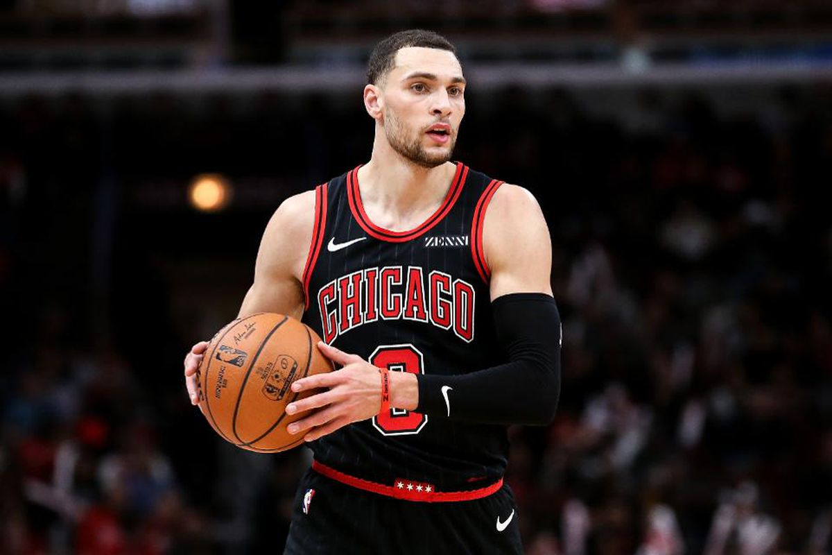The Bulls' Zach LaVine averaged a team-best 25.5 points, was second in assists at 4.2 and shot 38 percent from three-point range, averaging a career-best 8.1 threes per game.
