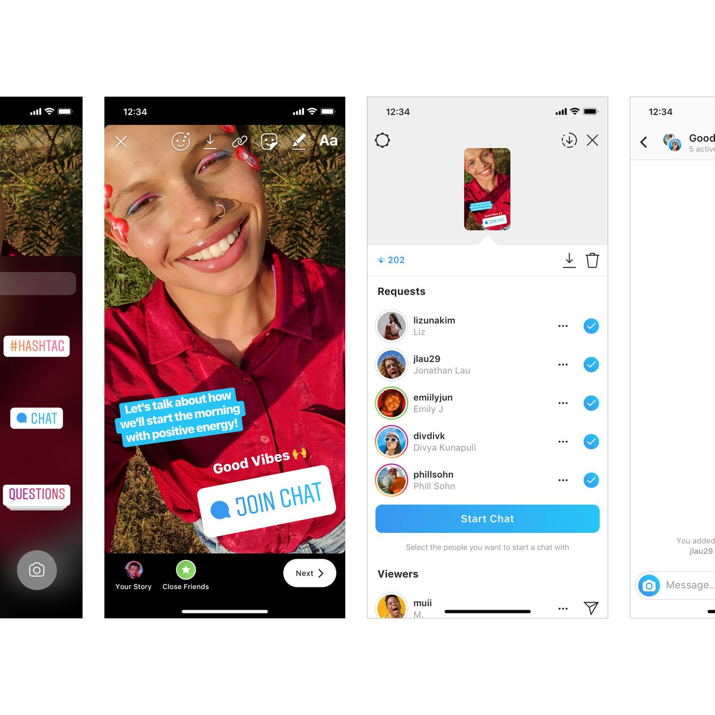 Instagram's new Stories sticker lets you ask your followers to join a new group  chat - The Verge