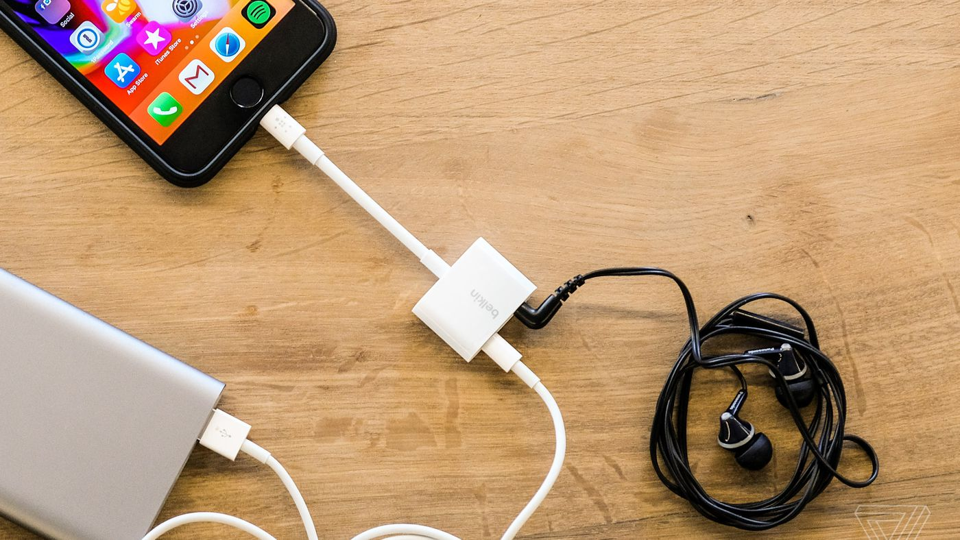 Apple Now Sells An Iphone Dongle With A Headphone Jack And Charging Port The Verge