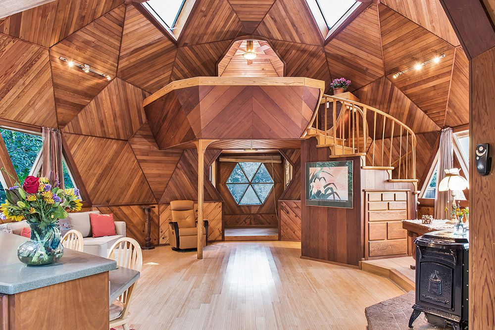 Guerneville Geodesic Dome Home Asks 48K Curbed SF Classy Dome Home Interiors