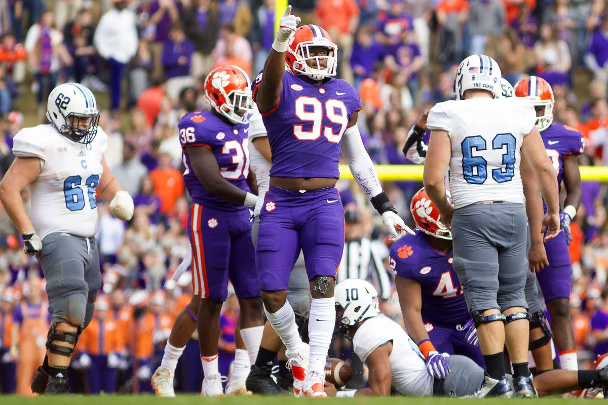 new arrival 0b232 0fbf9 Clemson vs. The Citadel: Tigers Overwhelm the Bulldogs 61-3 ...