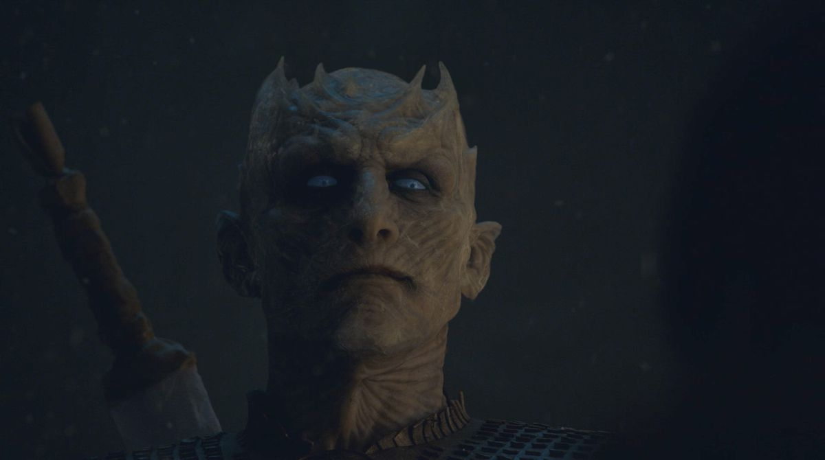 Le roi des nuits et Bran se regardent l'un l'autre