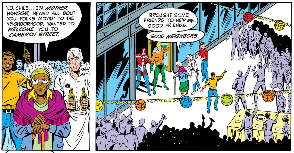 From Justice League of America Annual #2, DC Comics (1984).