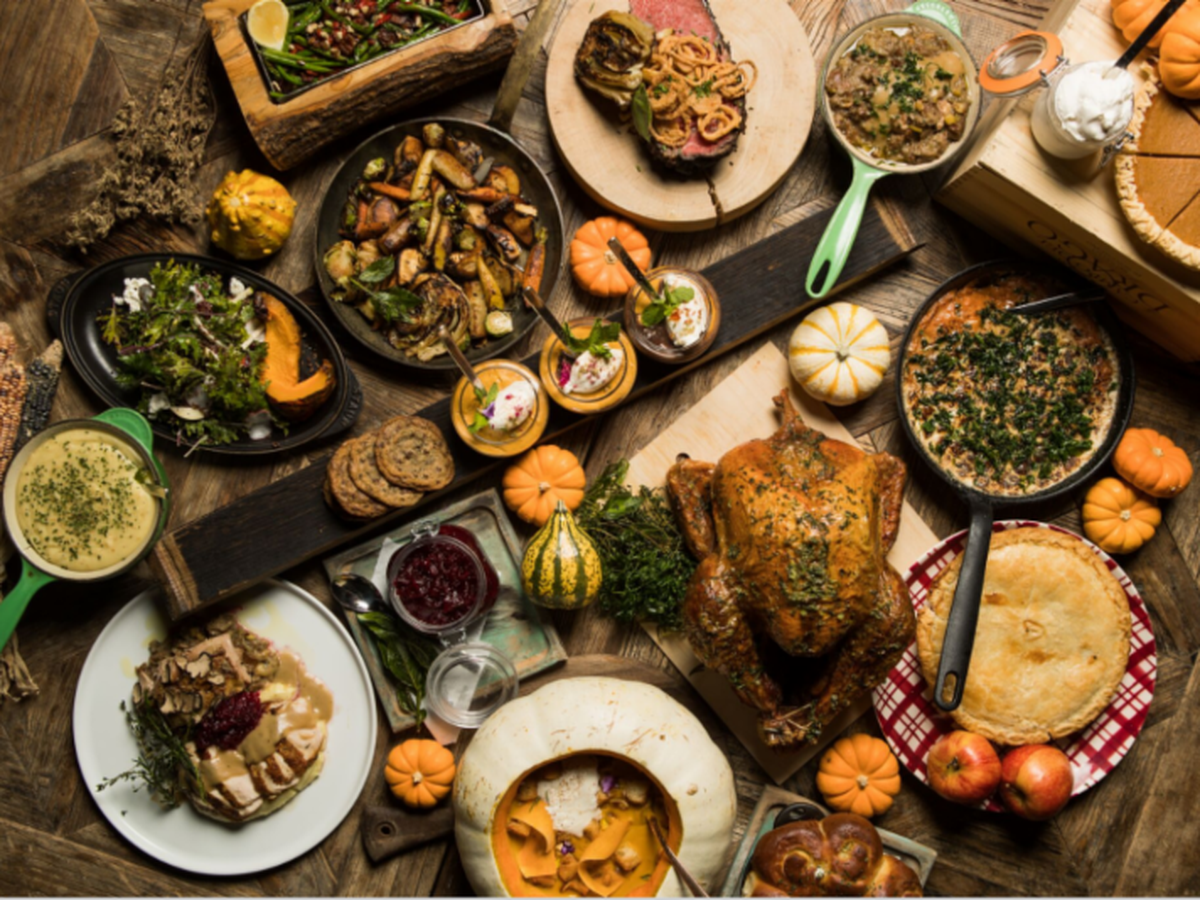 Image result for thanksgiving spread with stew