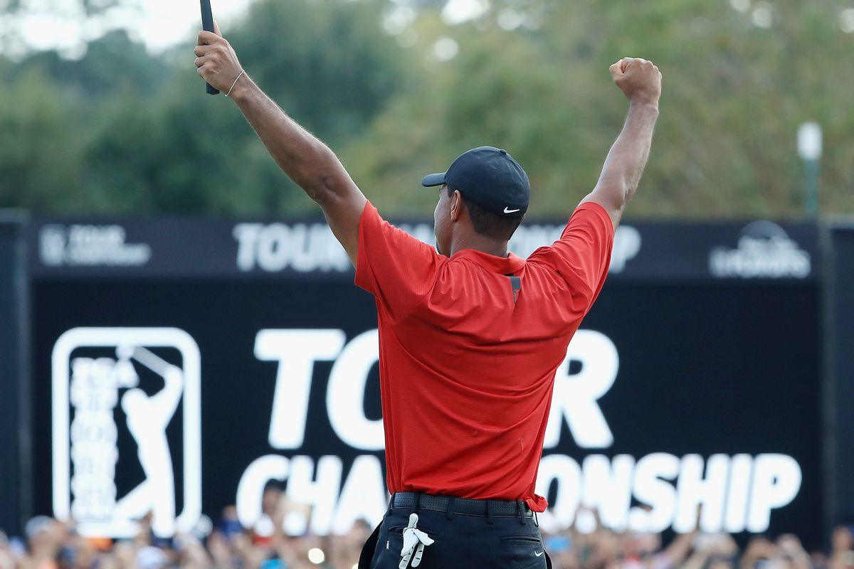tiger woods  your winner of the 2018 tour championship  is