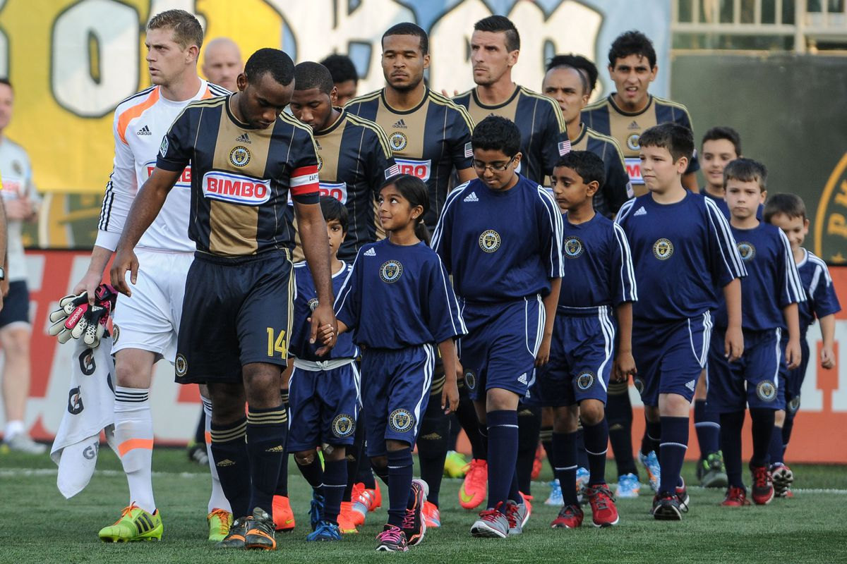 One of the few moments in the game where the Union were not getting a red card.