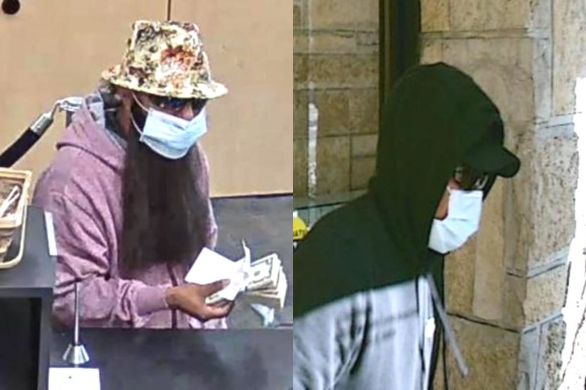 The FBI says these two men are wanted in three Chicago area banks, the last of which happened at  a TCF Bank branch in suburban Park Ridge. | FBI