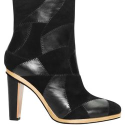 Leather & suede boot, $425