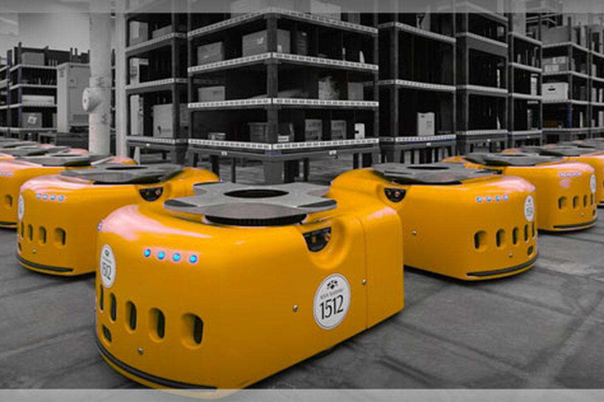 Amazon acquires robot-based warehouse stocking company Kiva Systems
