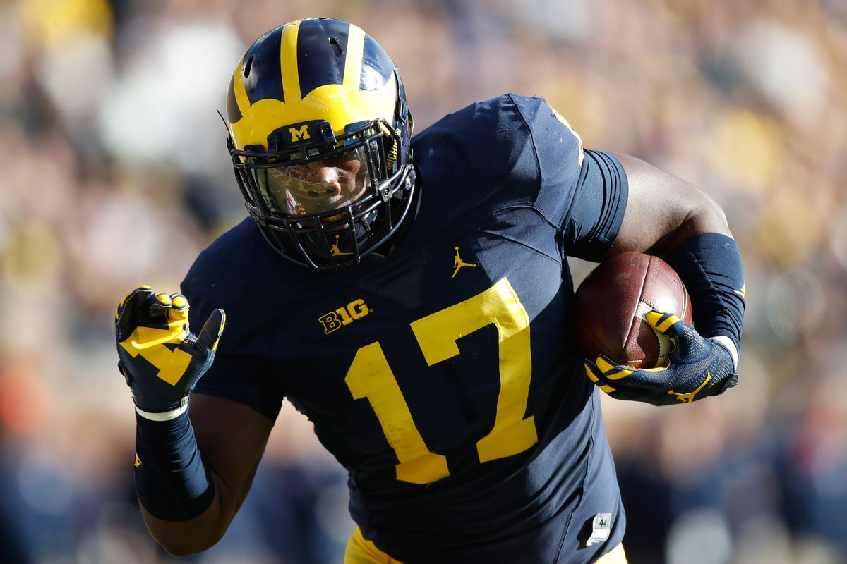 Michigan TE Tyrone Wheatley Jr. talks first career touchdown - Maize ... c634be3cb