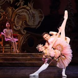 """Beckanne Sisk and Christopher Ruud dance as part of Ballet West's production of """"The Nutcracker."""""""