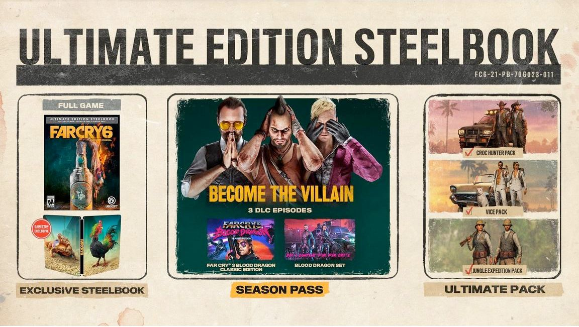 The Ultimate Edition Steelbook version of Far Cry 6