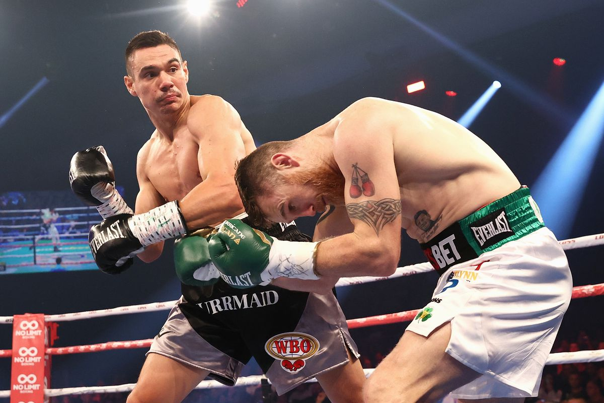 Results and highlights: Tim Tszyu batters, stops Dennis Hogan in five - Bad Left Hook