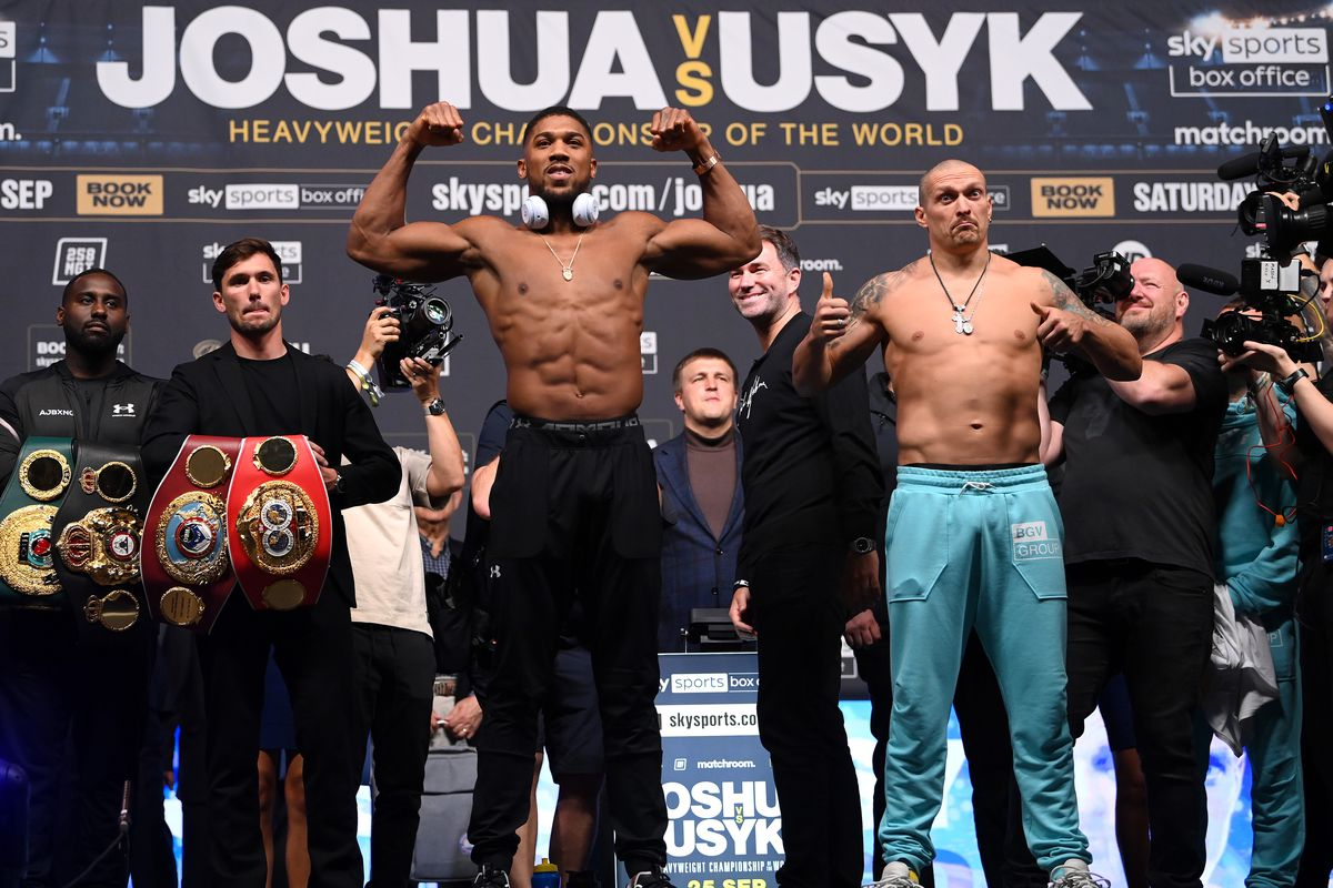 Anthony Joshua is heavily favored over undefeated challenger Oleksandr Usyk