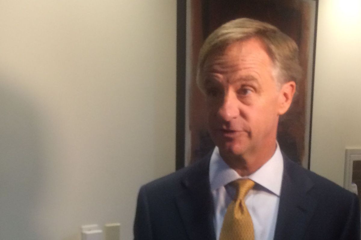 Gov. Bill Haslam responds to journalists' questions about Education Commissioner Huffman