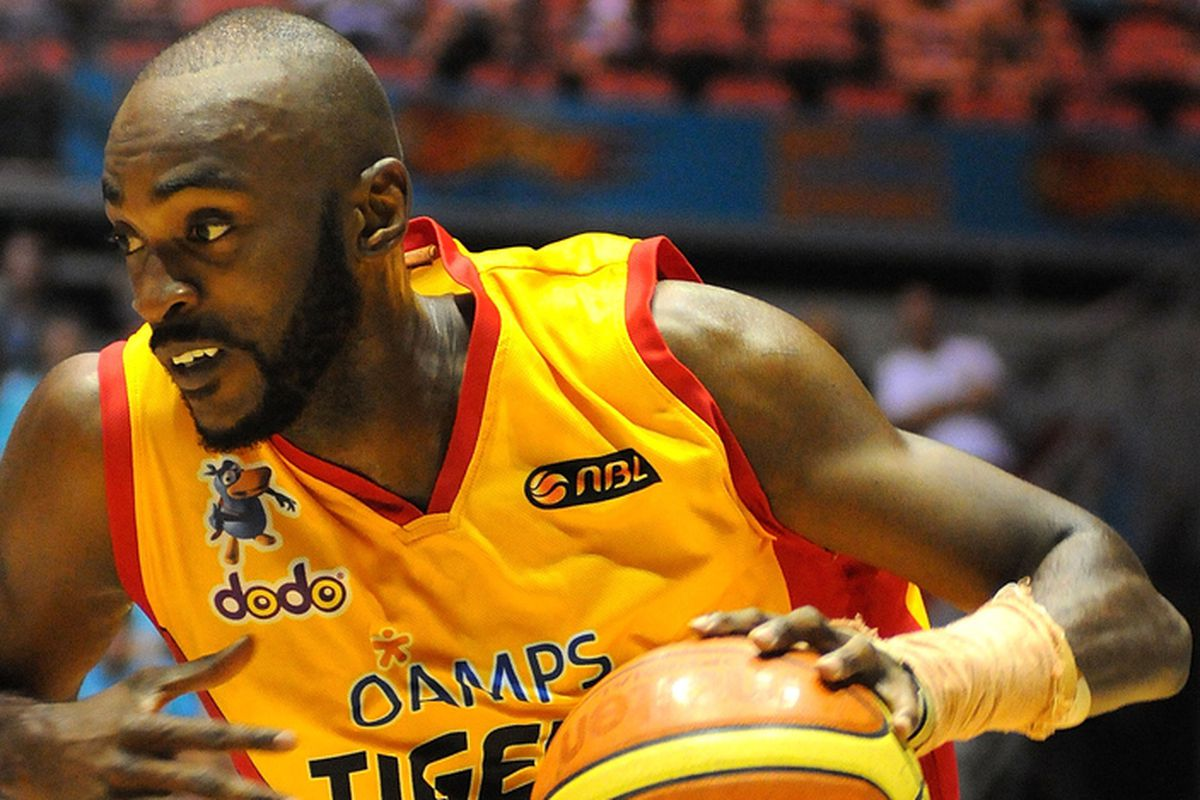 Julius Hodge back in 2010 when he was playing for the Melbourne Tigers in Australia (now playing in France at 29 years old).