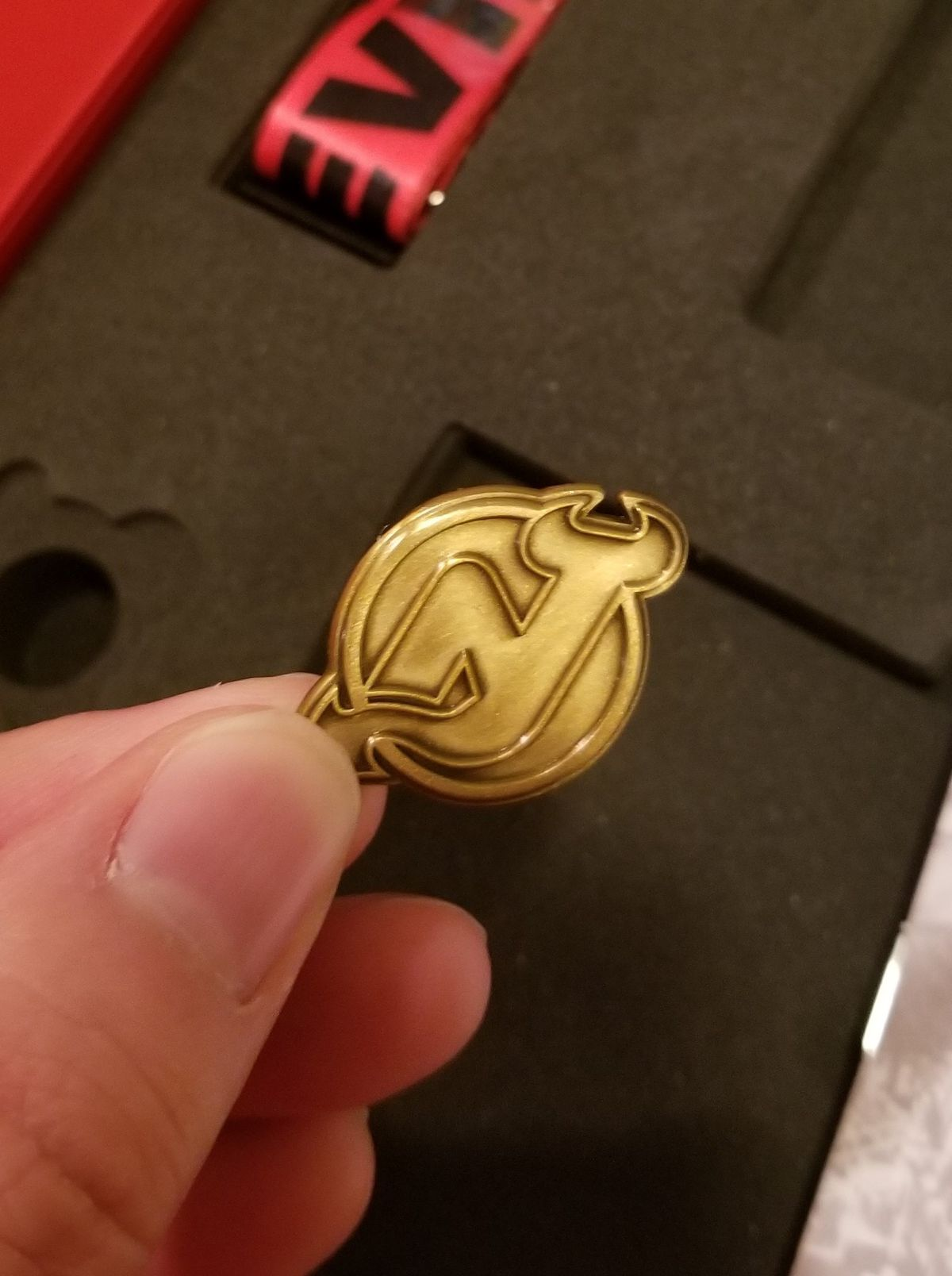 The 2019-20 Devils STH Pin Up Close