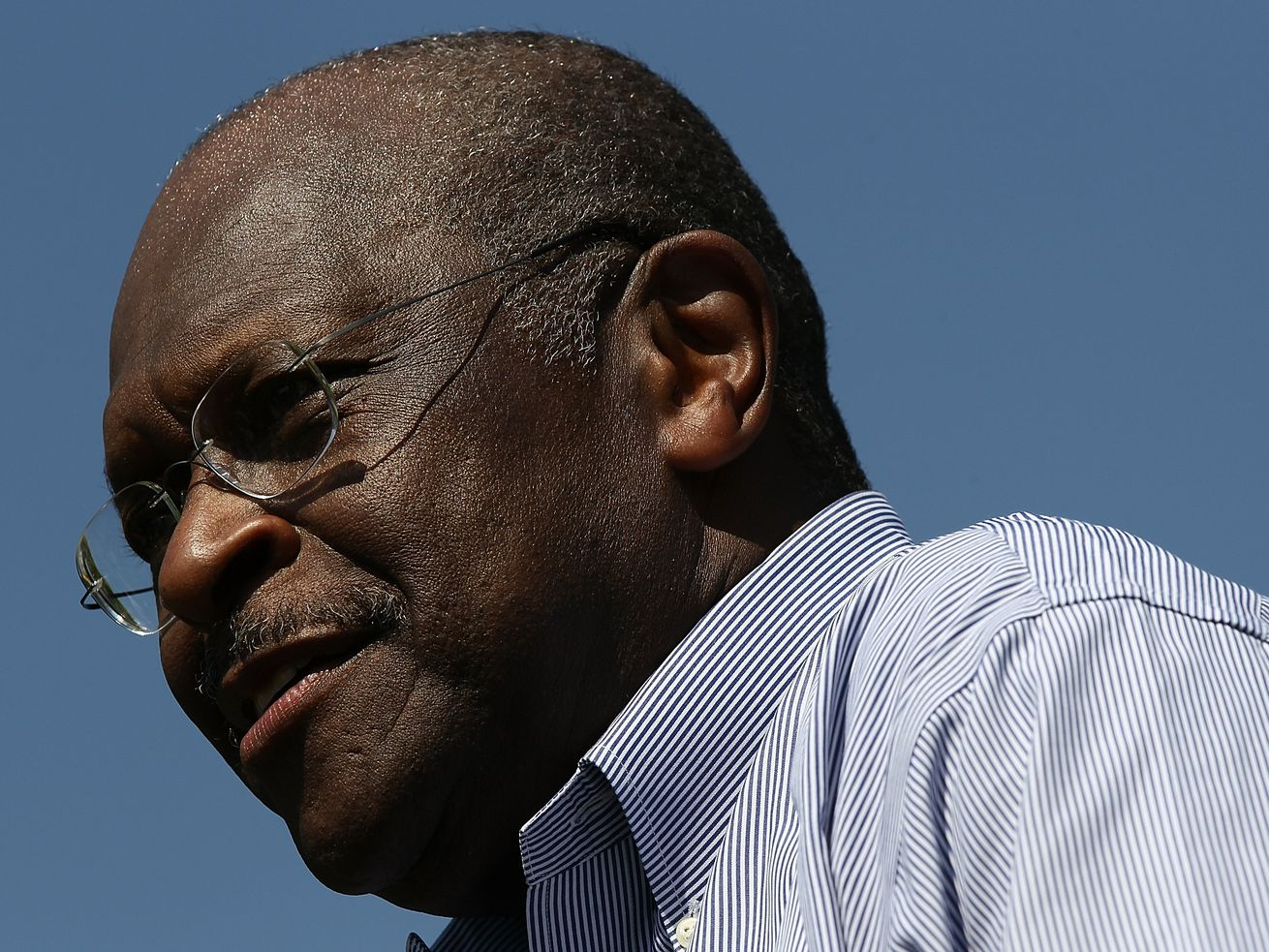 In 2012, Republican presidential candidate Herman Cain speaks at a campaign rally at the Capitol in Washington, DC.