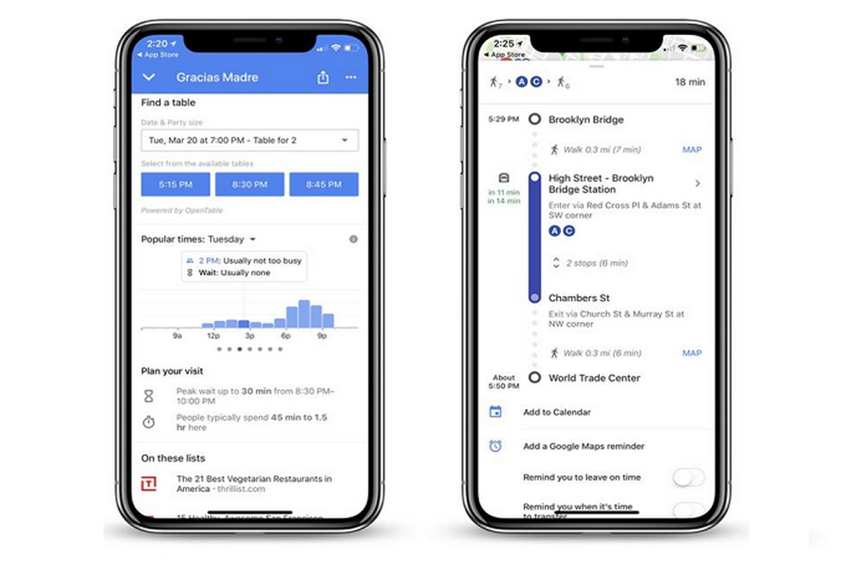 Google Maps for iOS now tells you how long restaurant wait times are on