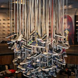 And a reclaimed Converse chandelier