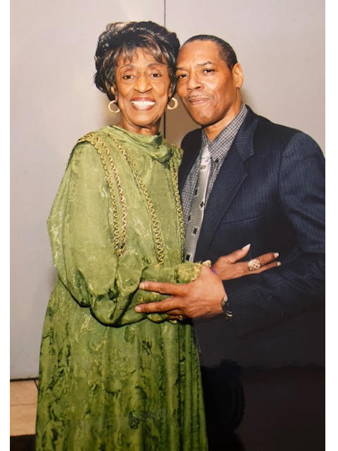 Rev. Carry and her eldest son, Ronald Carry.