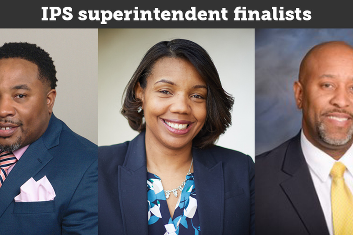 From left: Jefferson County Public Schools chief of schools Devon Horton, Indianapolis Public Schools interim Superintendent Aleesia Johnson, and Pike Township assistant superintendent Larry Young are the three finalists for IPS superintendent.