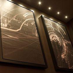 Artwork in the bar at Gordon Ramsay Steak.