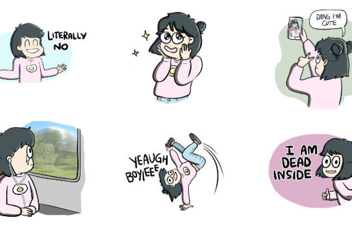 I M Not Sure Why It Took Le So Long To Get Aboard The Sticker Train But As A Time Admirer Of Cute Stickers On Kakaotalk And Line