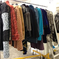Assorted fur coats and jackets