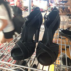 Platform heels, $70 (size 8)