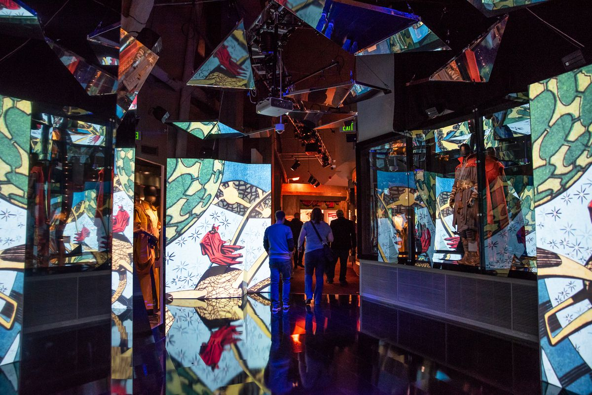 """The Museum of Science and Industry exhibit """"Marvel: Universe of Super Heroes.""""   Christine Mitchell"""