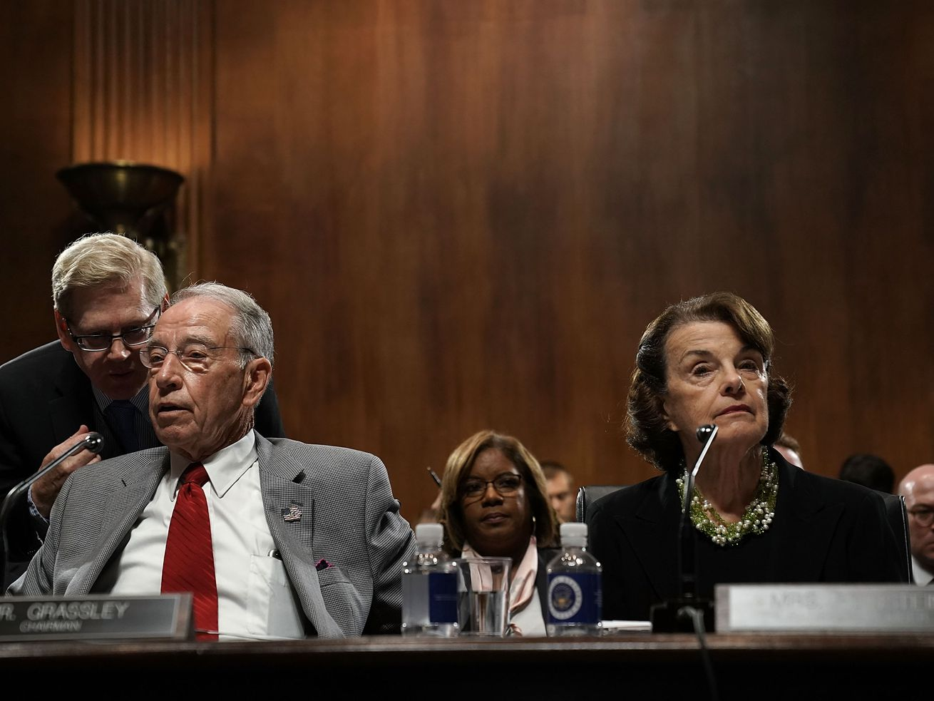 Senate Judiciary Committee Chairman Chuck Grassley and Ranking Member Dianne Feinstein at a hearing on Capitol Hill in September 2018.